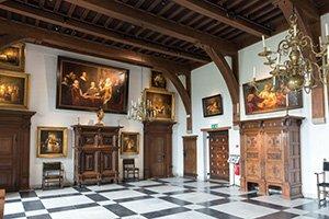 main hall of Knights Muiderslot castle