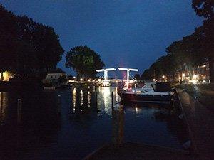 bridge by night