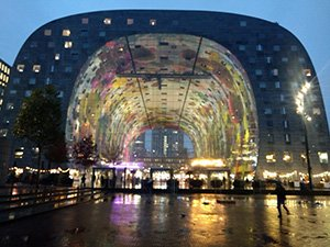 contemporary architecture; Markthal in Rotterdam