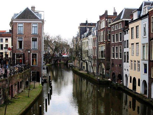 view on Utrecht canals